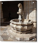 Lion Fountain Jeronimos Monastery In Lisbon Acrylic Print