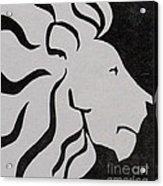 Lion Graphic King Of Beasts Acrylic Print by M C Sturman