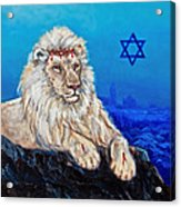 Lion Of Judah Before Jeruselum Acrylic Print