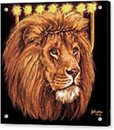 Lion Of Judah - Menorah Acrylic Print