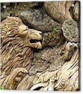 Lion On The Tree Of  Life Acrylic Print