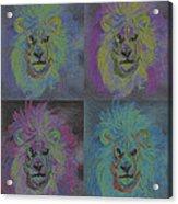 Lion X 4 Color  By Jrr Acrylic Print