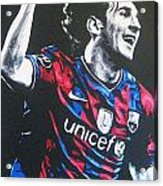 Lionel Messi - Barceona Fc 2  Acrylic Print