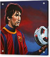 Lionel Messi 2 Acrylic Print