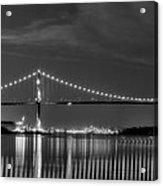 Lions Gate Bridge Black And White Acrylic Print by Naman Imagery