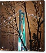 Lions Gate Bridge Acrylic Print by Jorge Ligason