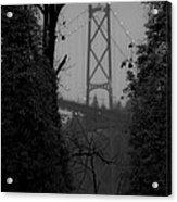 Lions Gate Bridge Acrylic Print by Nancy Harrison