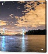 Lion's Gate Bridge Vancouver At Night Acrylic Print