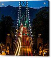Lion's Gate Bridge Vancouver B.c Canada Acrylic Print