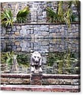 Lions In The Renaissance Court Fountain 2 Acrylic Print