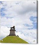 Lions Mound Memorial To The Battle Of Waterlooat Waterloo Belgium Europe Acrylic Print by Jon Boyes