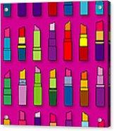 Lipsticks Pattern Acrylic Print