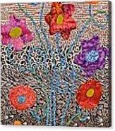 Liquid Flowers Acrylic Print