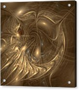 Liquid Gold Acrylic Print