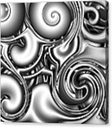 Liquid Metal Acrylic Print