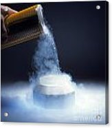 Liquid Nitrogen Being Poured Acrylic Print