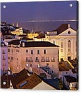 Lisbon At Night In Portugal Acrylic Print