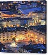 Lisbon At Night Portugal Acrylic Print