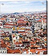 Lisbon Panoramic Skyline Acrylic Print