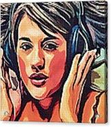 Listen To Music Acrylic Print
