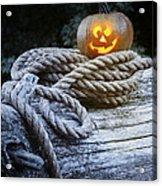 Lit Pumpkin Acrylic Print