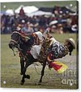 Litang Horse Festival - Kham Tibet Acrylic Print by Craig Lovell