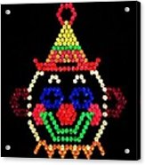 Lite Brite - The Classic Clown Acrylic Print
