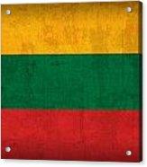 Lithuania Flag Vintage Distressed Finish Acrylic Print