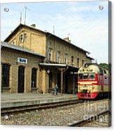 Lithuania. Silute Train Station. 2008 Acrylic Print