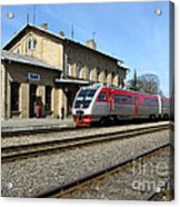 Lithuania. Silute Train Station. 2009 Acrylic Print