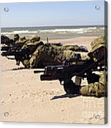 Lithuanian Special Forces Members Lie Acrylic Print