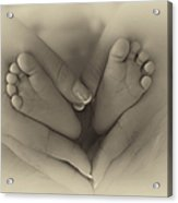 Little Bambino Toes Surrounded By Love Acrylic Print