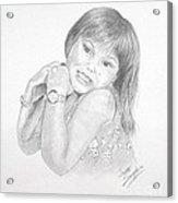 Little Bella Acrylic Print