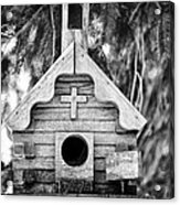 Little Birdie Church Acrylic Print