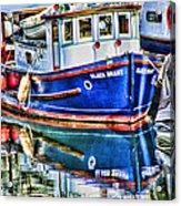 Little Blue Boat Hdr Acrylic Print