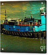 Little Blue Tug - New York City Acrylic Print