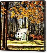 Little Cabin In The Woods Acrylic Print by Amanda Enos