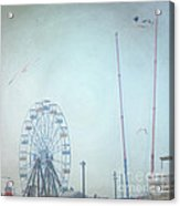 Little Carnival Town Acrylic Print by Sharon Coty