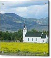 Little Church On Montana Prairie Acrylic Print