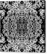 Little Flower Kaleidoscope Acrylic Print