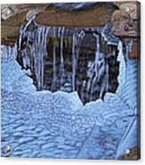 Little Frozen Waterfall Acrylic Print