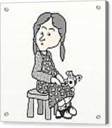 Little Girl And Dog   Acrylic Print