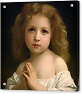 Little Girl And Her Prayer Acrylic Print