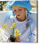 Little Girl Blue  Acrylic Print
