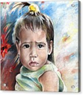 Little Girl From Tahiti Acrylic Print