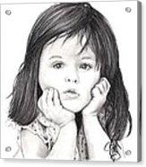 Little Girl Acrylic Print by Rosalinda Markle