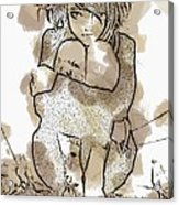 Little Girl Tattoed Acrylic Print