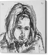 Little Girl With Hairband Acrylic Print