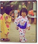 Little Girls At A Festival Acrylic Print
