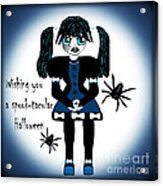 Little Goth Girl Spook-tacular Acrylic Print